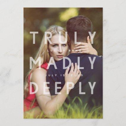 Truly Madly Deeply Save the Date