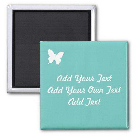 Turquoise Butterfly Wedding Save The Date Magnet