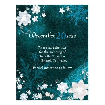 Rustic Christmas Save The Date Cards Save the Date Cards – Winter Wedding Save the Date