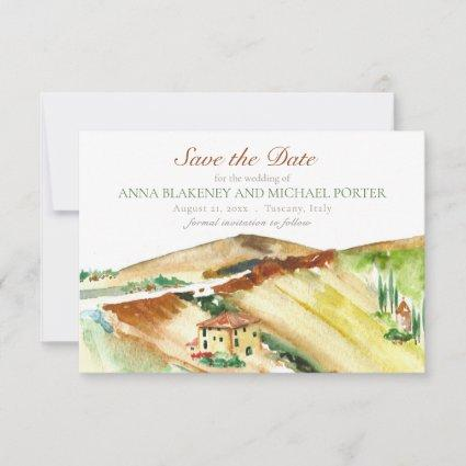 Tuscany Italy Save the Date Destination Wedding