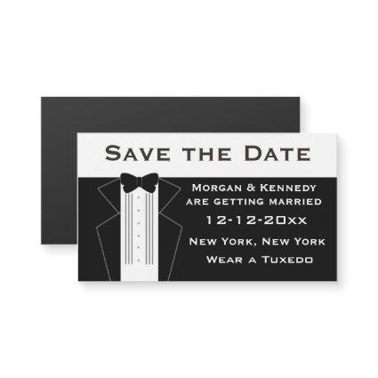Tuxedo Save The Date Magnetic