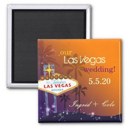 Twilight Las Vegas Wedding Save the Date Magnets