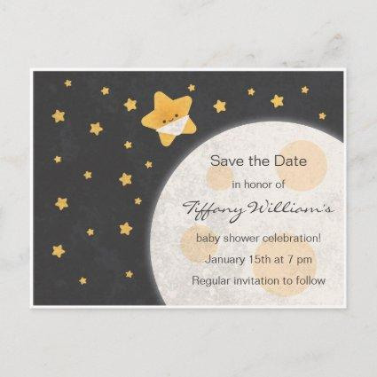 Twinkle Little Star Baby Shower Save the Date Announcement