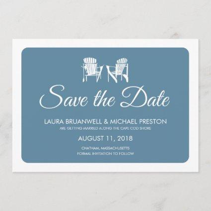 Two Adirondack Chairs Save the Date