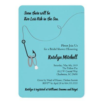 Two Less Fish in the Sea Bridal Shower Invitations