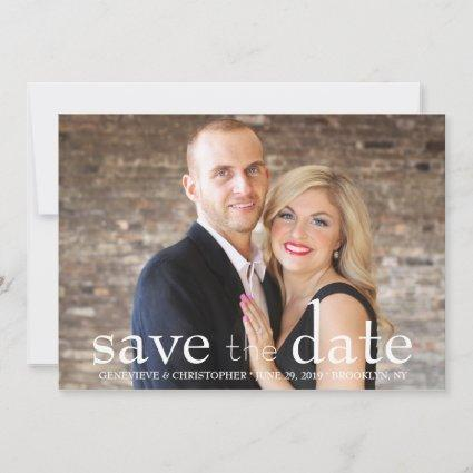 Two Sided Photo Save the Date Wedding Announcement