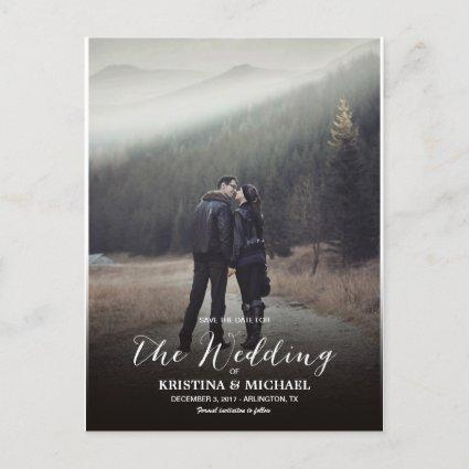 Two Sided Photo Save The Date With Calendar Announcements Cards