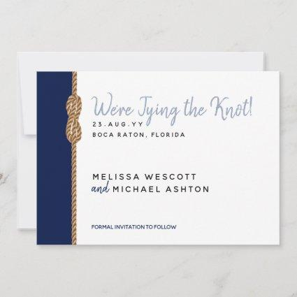 Tying the Knot Minimalist Nautical Save the Date