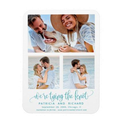 Tying The Knot Wedding Save The  Date 3 Magnets
