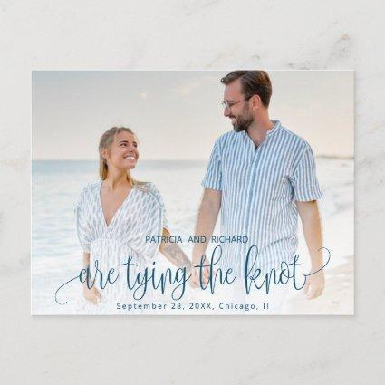 Tying The Knot Wedding Save The  Date Photo