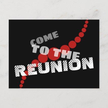 Typographic Save the Reunion Date Announcement