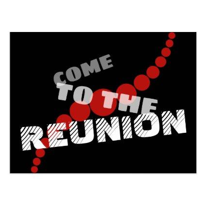 Typographic Save the Reunion Date Cards