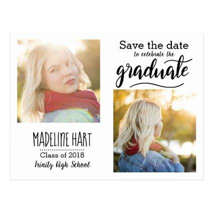 Typography Graduate    Two Photo Cards