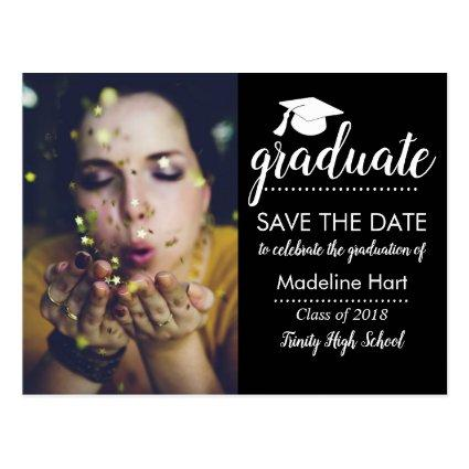 Typography Graduation Party |  Photo Cards