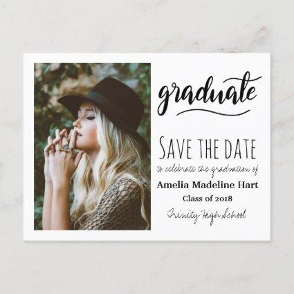 Typography Graduation Party   Save The Date Photo