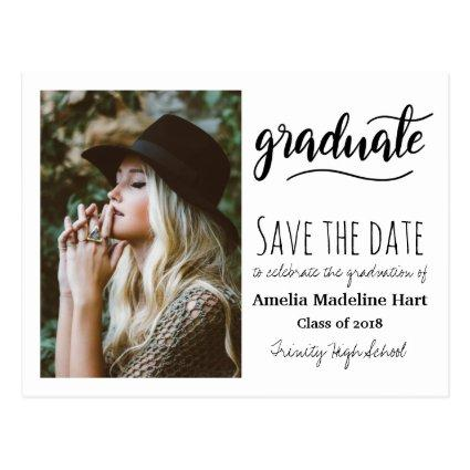 Typography Graduation Party | Save The Date Photo Cards