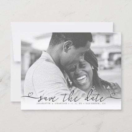 Typography Save The Date Heart Font Wedding