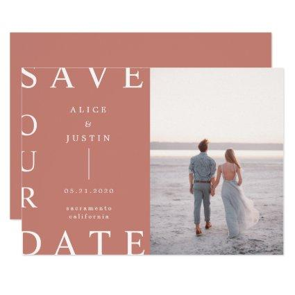 ultra modern layout photo Save the Date Invitation