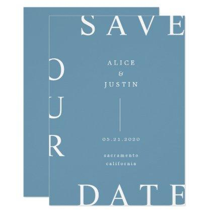 ultra modern layout Save the Date Invitation