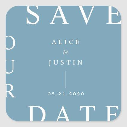 ultra modern save the date sticker