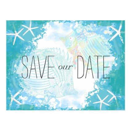 Under the Sea  Tropical Wedding Cards