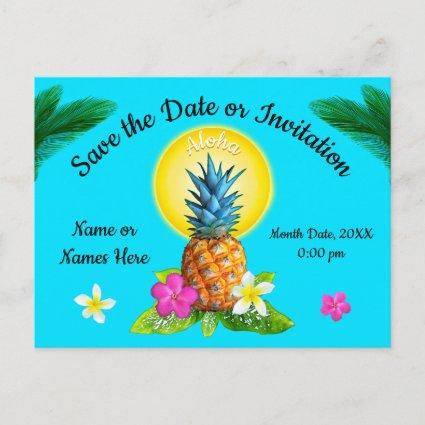 Unique Hawaiian . Any Occasion Announcement