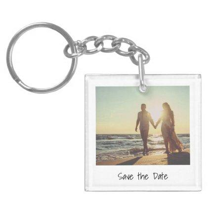 Unique Retro Instant Photo Save the Date Keychain