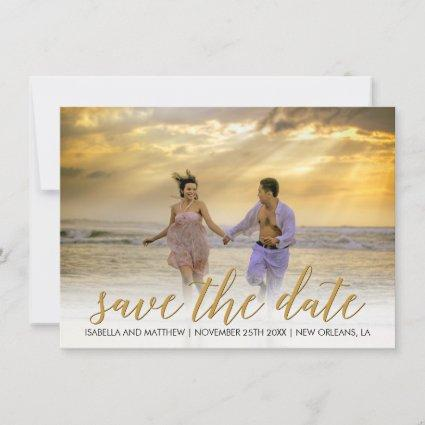 Unique Sand Photo Template Save The Date