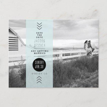 Urban Opaque Blue Band | Save the Date Photo Announcement