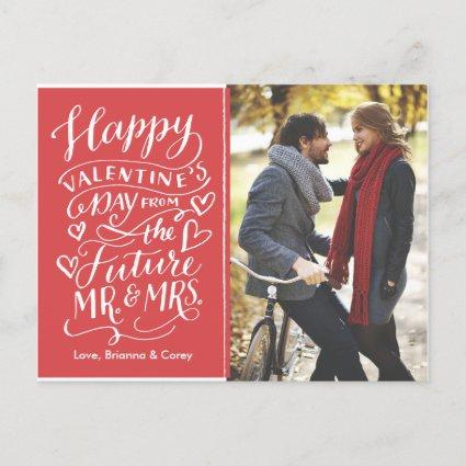 Valentine Future Mr. and Mrs. Photo Save The Date Announcements Cards
