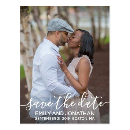 Vertical Photo Wedding Save The Date Cards