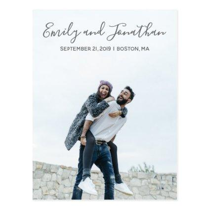Vertical Picture Wedding Save The Date Cards