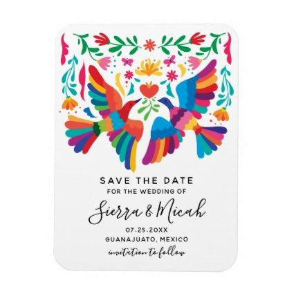 Vibrant Mexican Inspired Save The Date Magnet