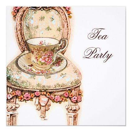 Bridal Shower Tea Party Invitations Save The Date Cards