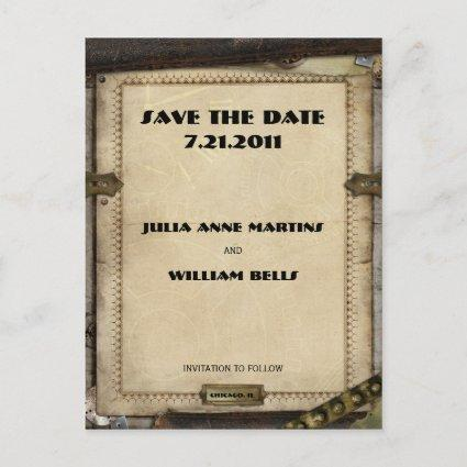 Victorian Steampunk Save the Date Cards