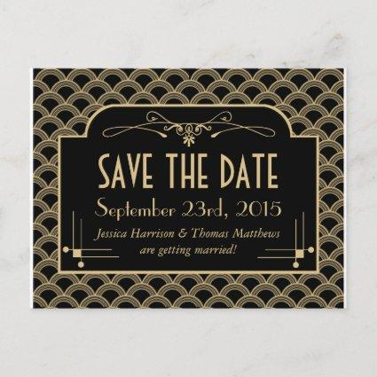 Vintage 1920's Art Deco Gatsby Wedding Collection Announcements Cards