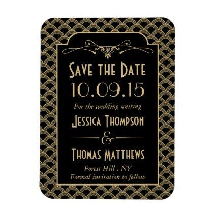 Vintage 1920's Art Deco Gatsby Wedding Collection Magnet