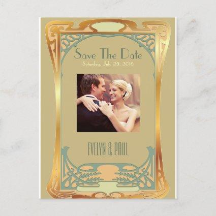 Vintage Art Deco Save The Date ~ Gatsby Inspired Announcement