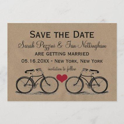 Vintage Bicycle Save the Date Wedding
