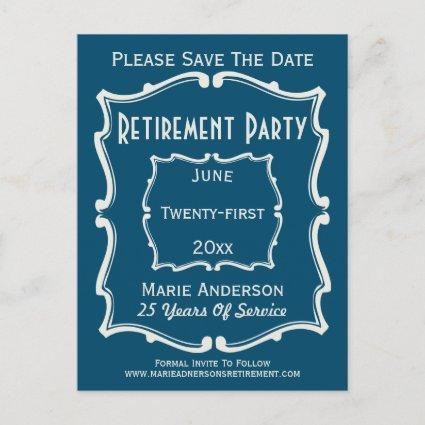 Retirement Party Save The Date Save The Date Cards Save