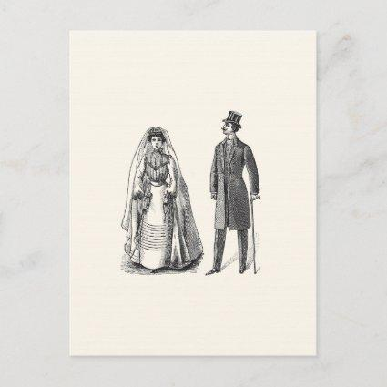 Vintage Bride and Groom Reply