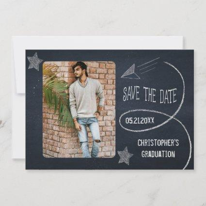 Vintage Chalkboard Graduation Photo Save The Date