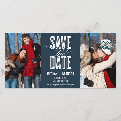 Vintage Chic Save The Date Photo