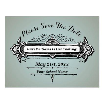 Vintage Design Save The Date - Pick Your Own Color Cards