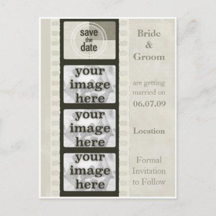 Vintage Film Strip Save the Date Photo s
