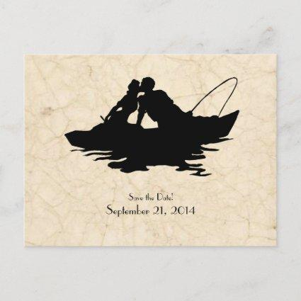 Vintage Fishermen Lovers Boat Save the Date Announcement