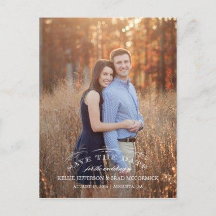 Vintage Flourish Save the Date Post Cards