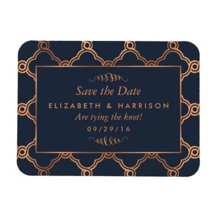 Vintage Geometric Art Deco Gatsby Save The Date Magnet