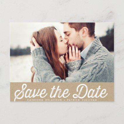 VINTAGE PAPER RUSTIC PHOTO SAVE THE DATE Cards