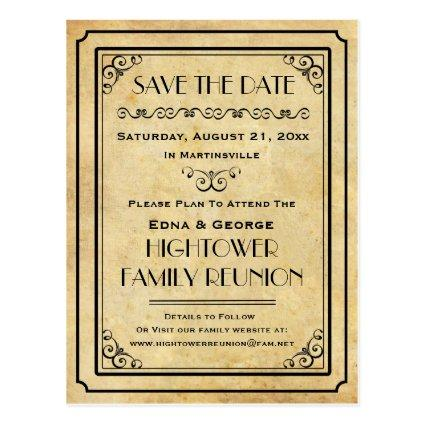Vintage Party Family Reunion Wedding